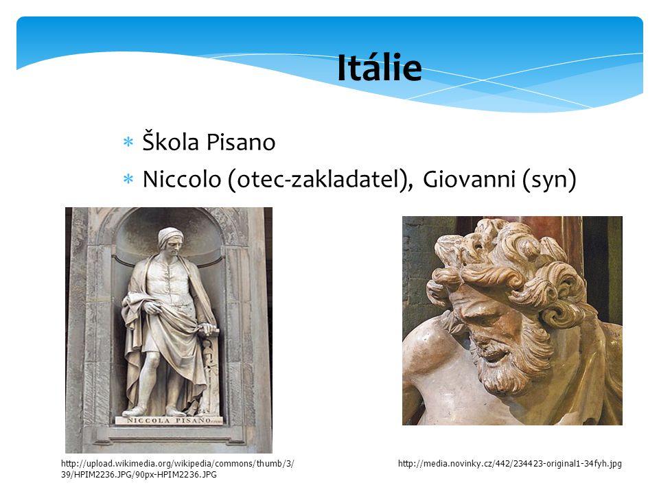 Itálie Škola Pisano Niccolo (otec-zakladatel), Giovanni (syn)