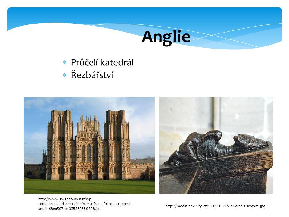 Anglie Průčelí katedrál Řezbářství