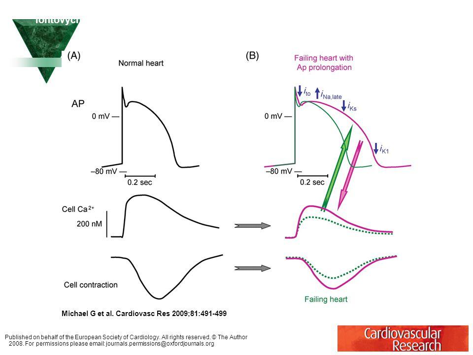 Změny v pohybu Ca2+ a kontraktilitě a potenciální kompenzační funkce remodelace iontových kanálů, které způsobují prolongaci APD u kongestivního srdečního selhání