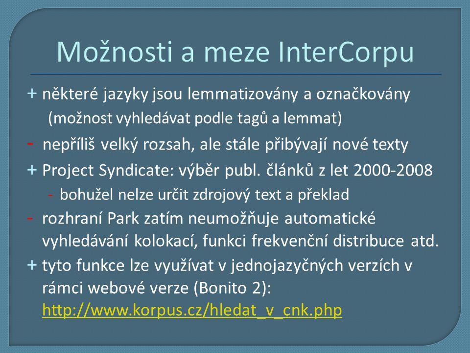 Možnosti a meze InterCorpu