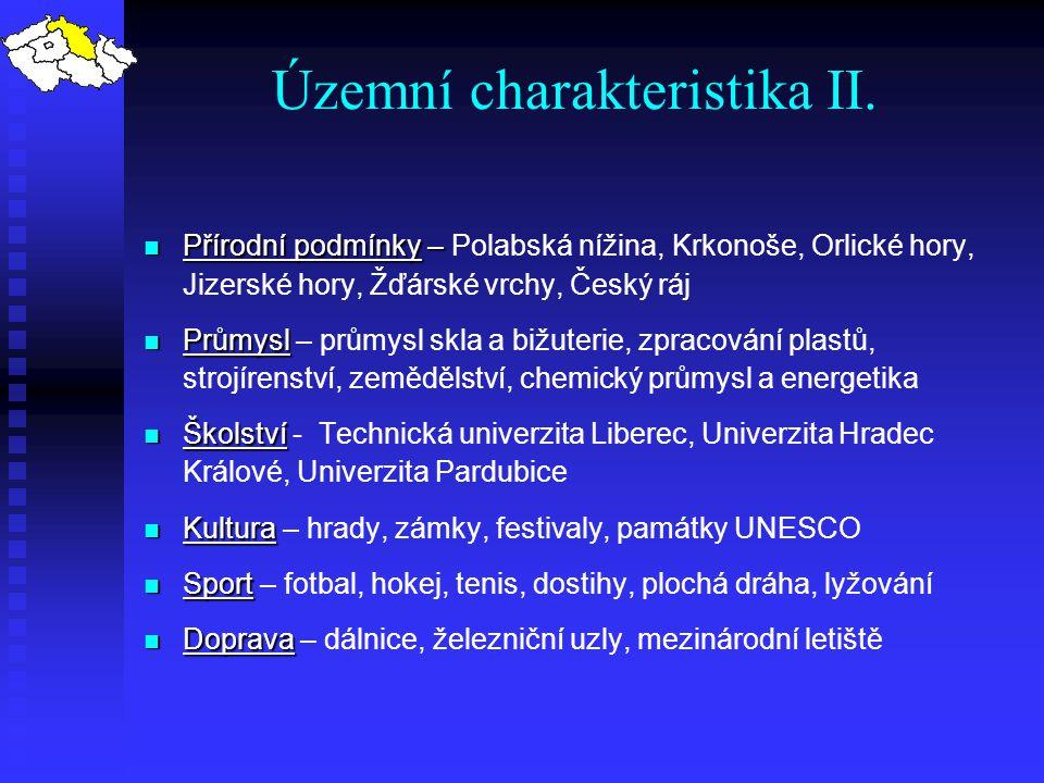 Územní charakteristika II.