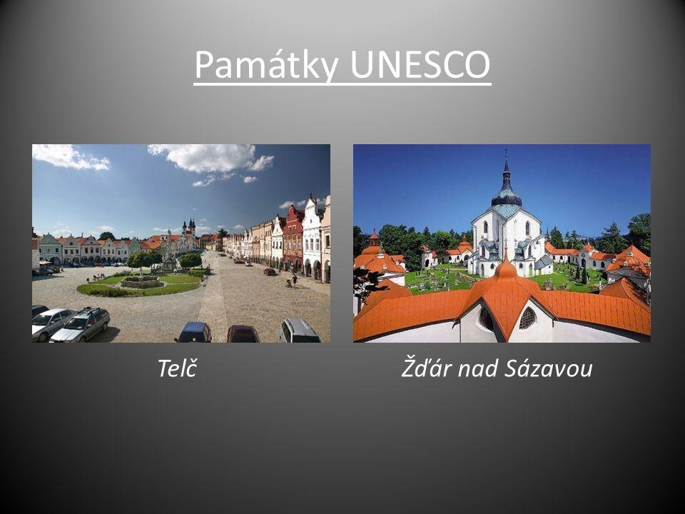 Památky UNESCO Telč Žďár nad Sázavou