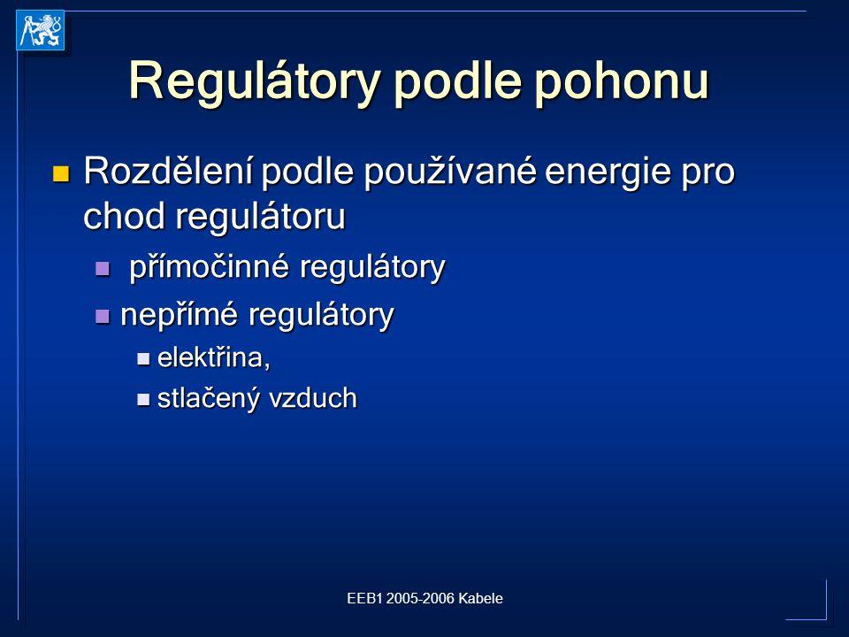 Regulátory podle pohonu