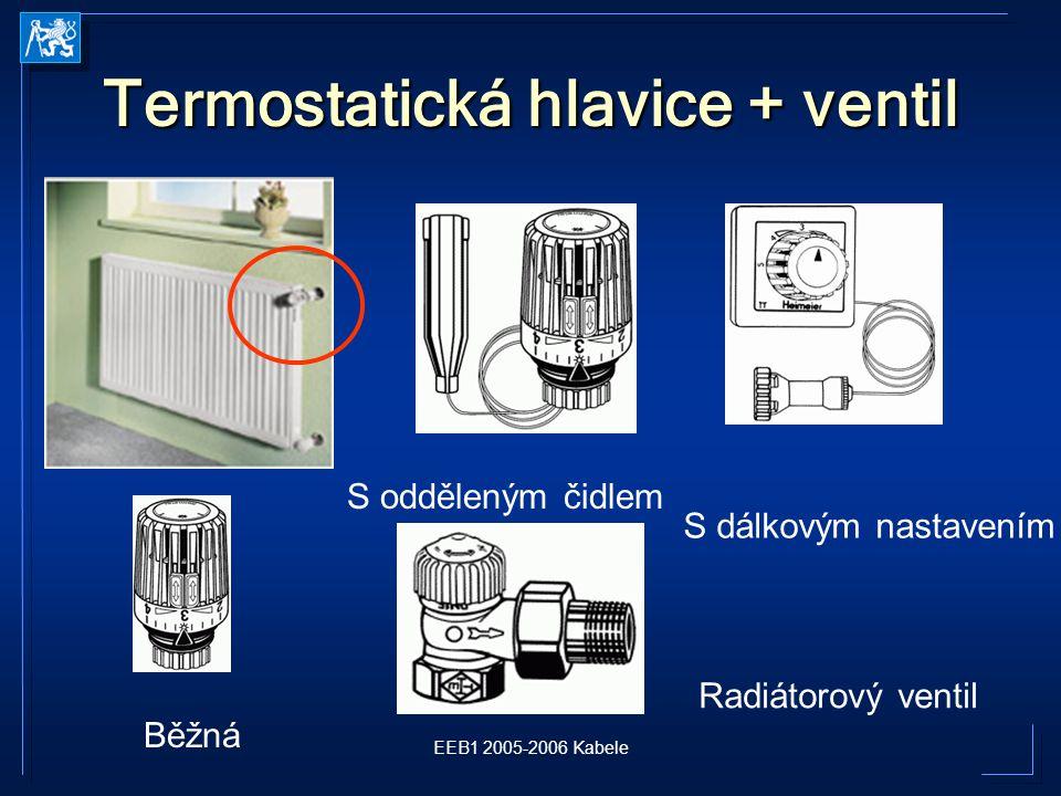 Termostatická hlavice + ventil
