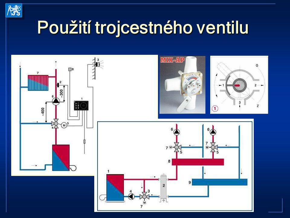 Použití trojcestného ventilu