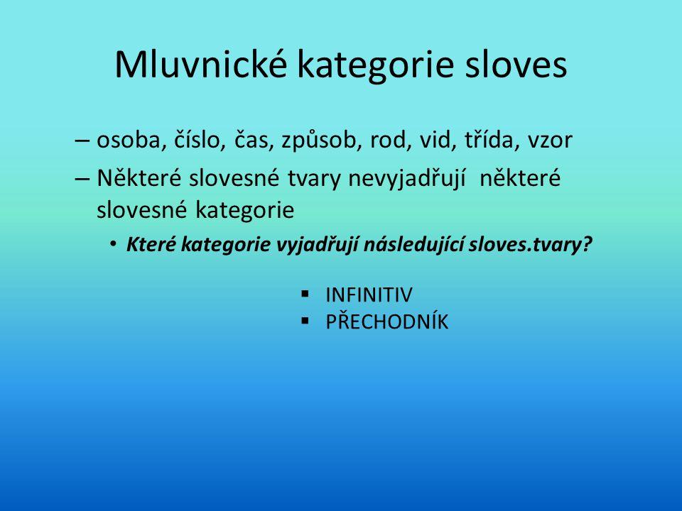 Mluvnické kategorie sloves