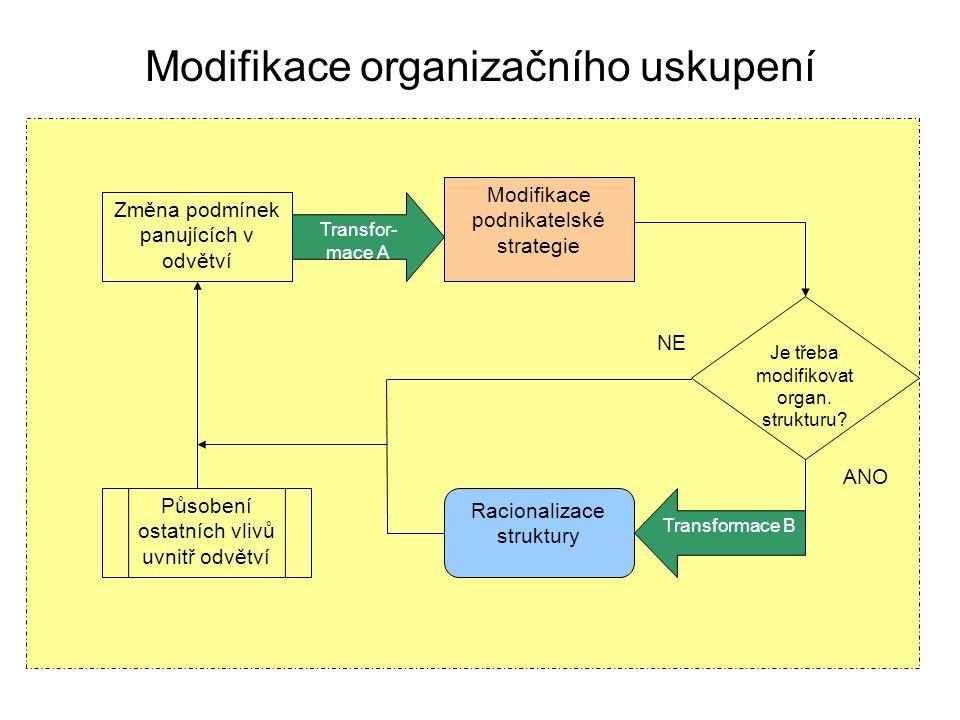 Modifikace organizačního uskupení