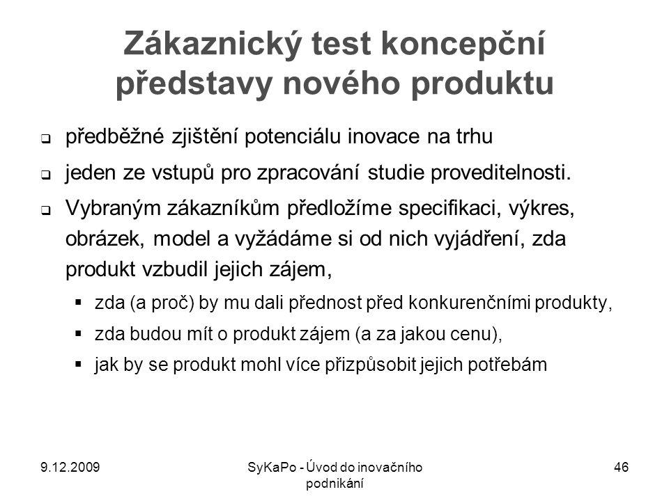 Zákaznický test koncepční představy nového produktu