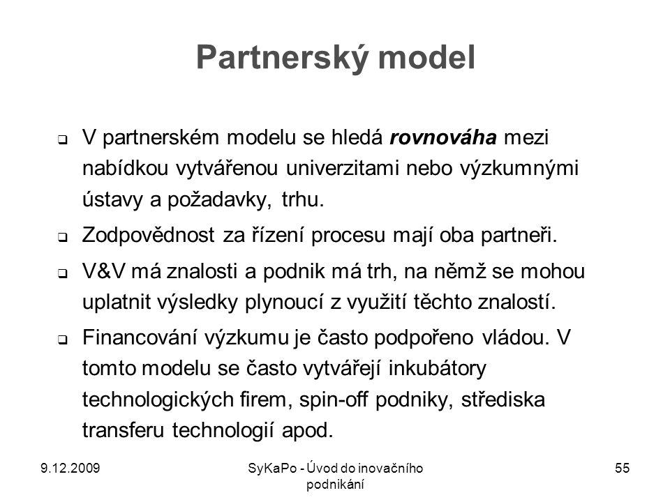 SyKaPo - Úvod do inovačního podnikání