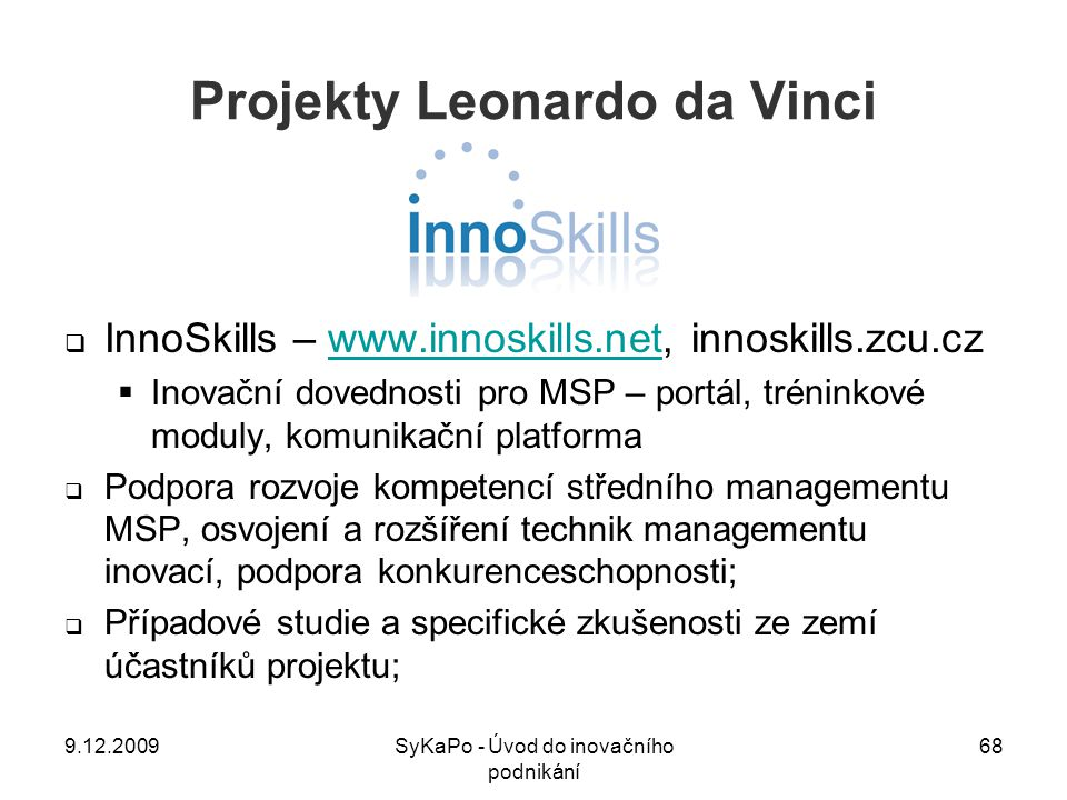 Projekty Leonardo da Vinci