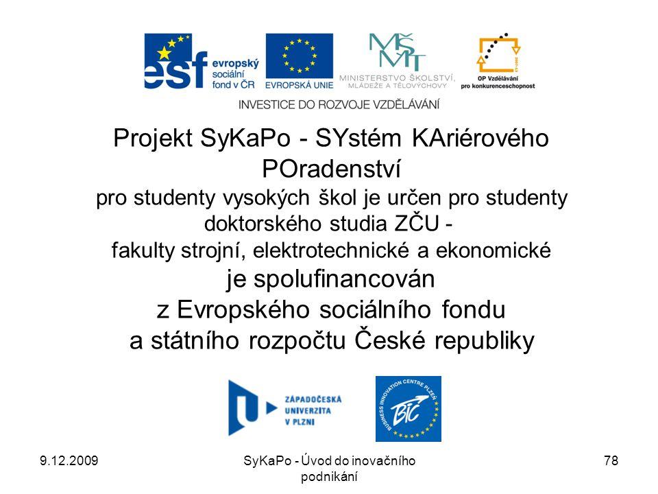 Projekt SyKaPo - SYstém KAriérového POradenství