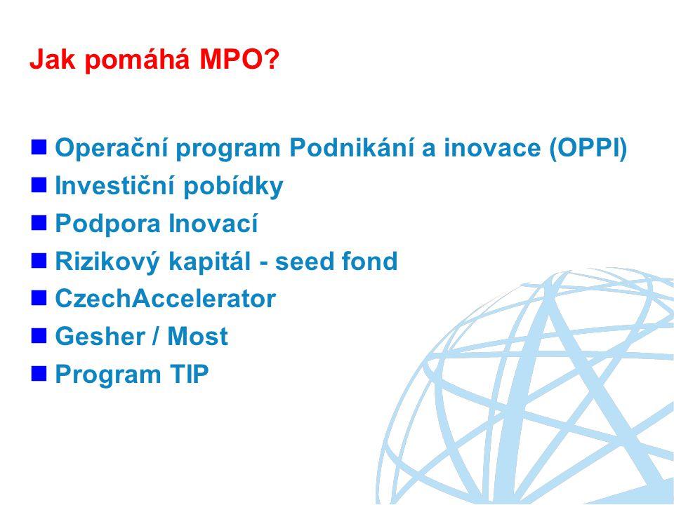 Jak pomáhá MPO Operační program Podnikání a inovace (OPPI)