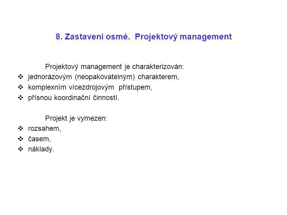 8. Zastavení osmé. Projektový management