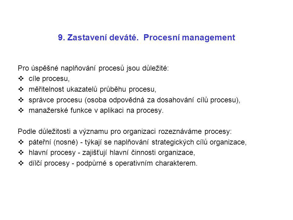 9. Zastavení deváté. Procesní management