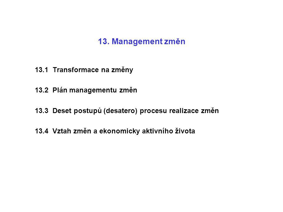 13. Management změn