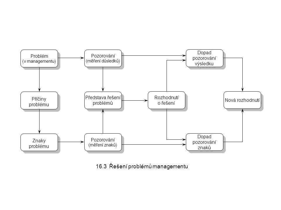 16.3 Řešení problémů managementu