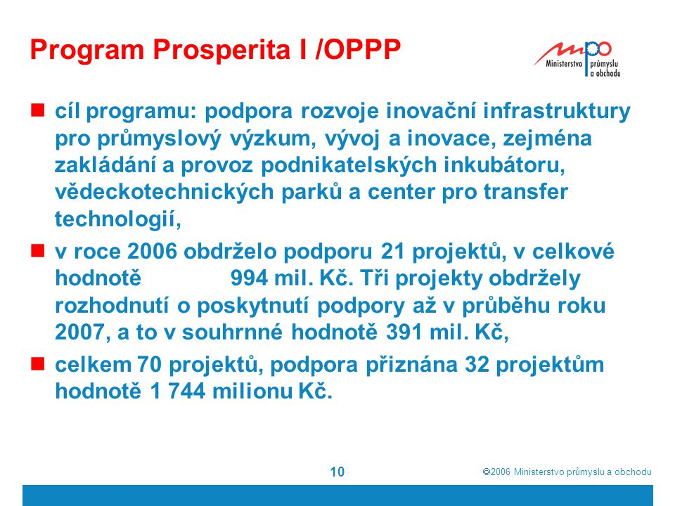 Program Prosperita I /OPPP