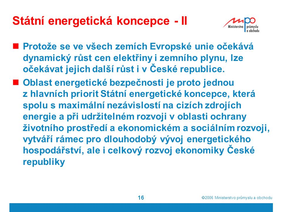 Státní energetická koncepce - II