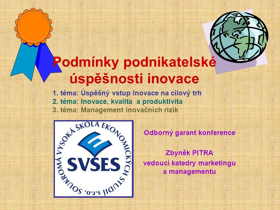 Podmínky podnikatelské úspěšnosti inovace