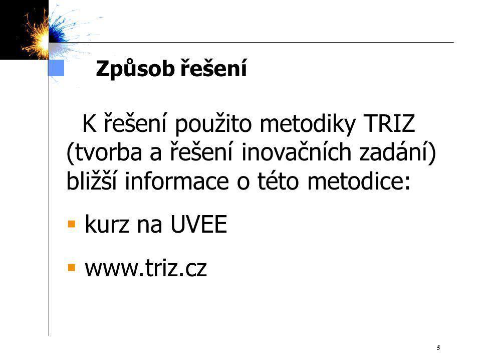 kurz na UVEE www.triz.cz Způsob řešení