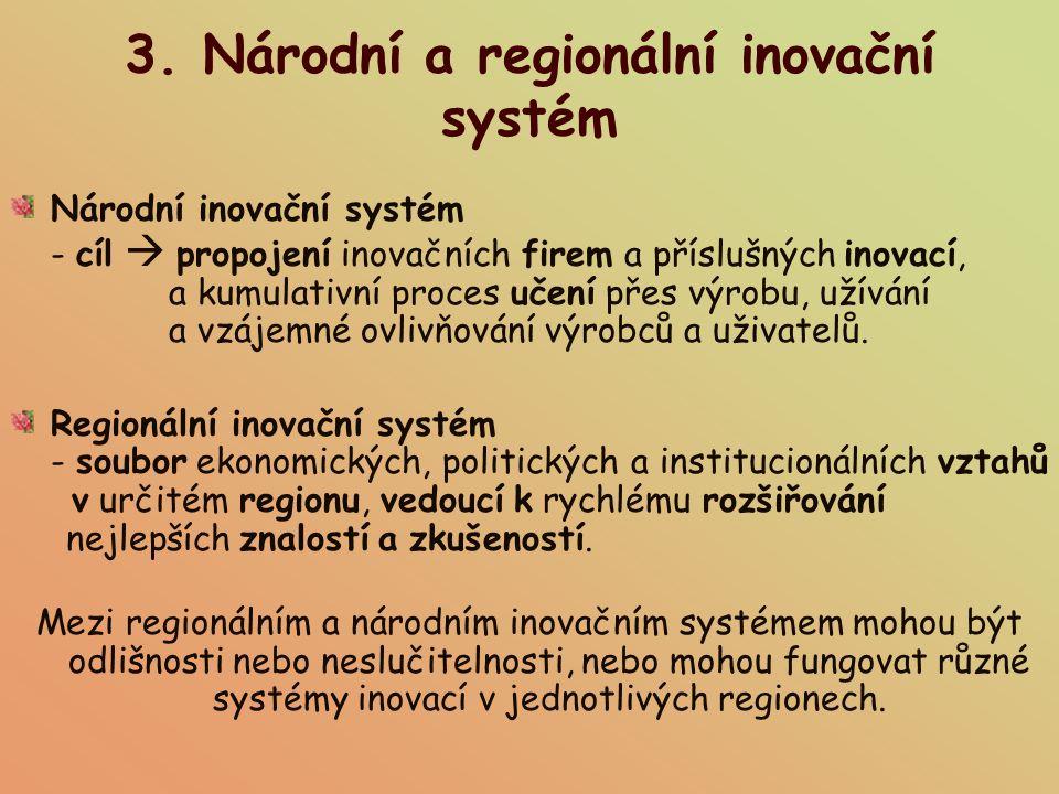 3. Národní a regionální inovační systém