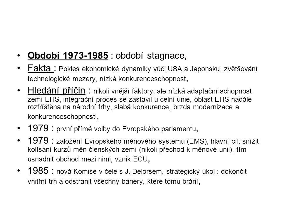 Období 1973-1985 : období stagnace,