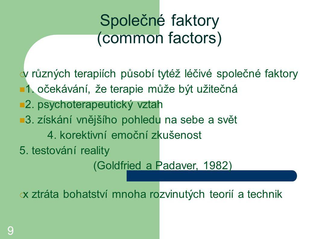 Společné faktory (common factors)