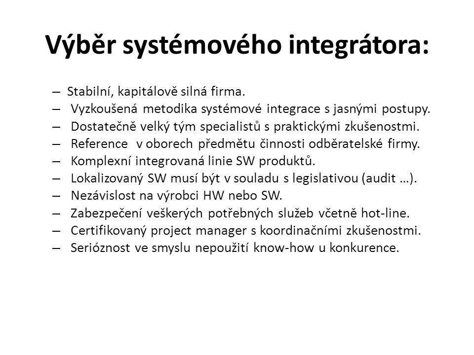 Výběr systémového integrátora: