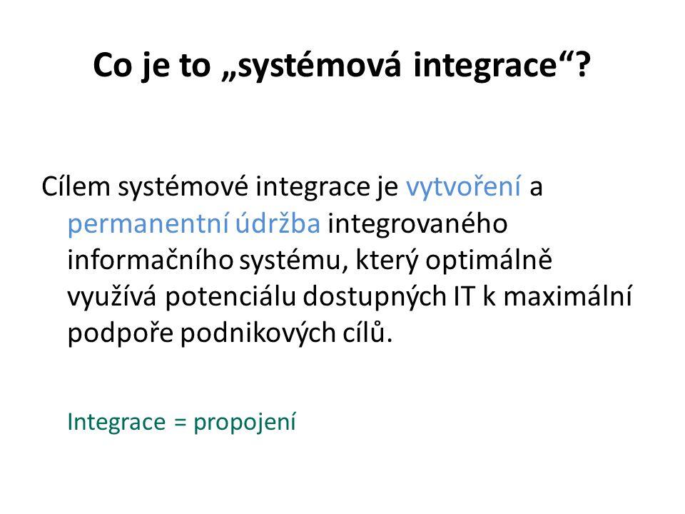 """Co je to """"systémová integrace"""