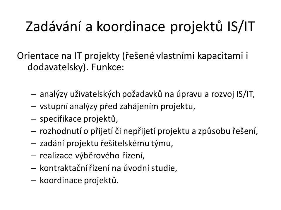 Zadávání a koordinace projektů IS/IT