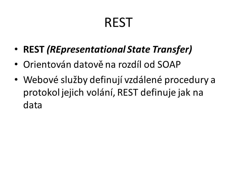 REST REST (REpresentational State Transfer)