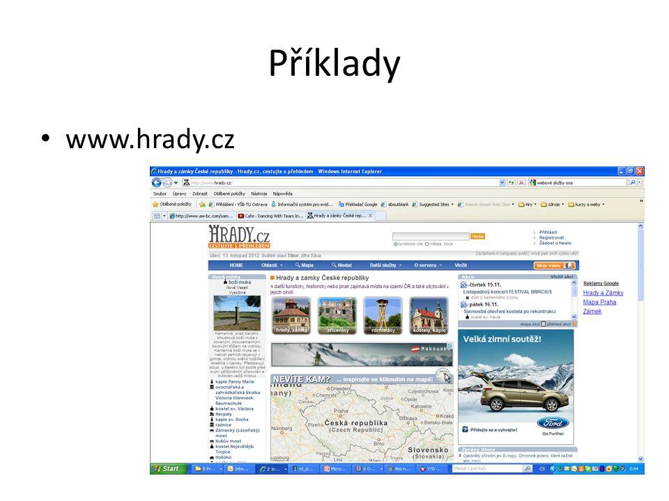 Příklady www.hrady.cz