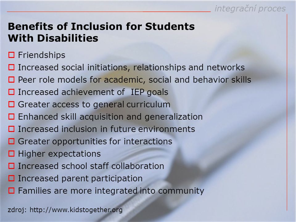 Benefits of Inclusion for Students With Disabilities