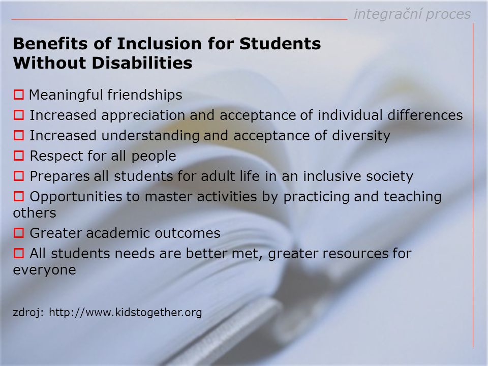 Benefits of Inclusion for Students Without Disabilities