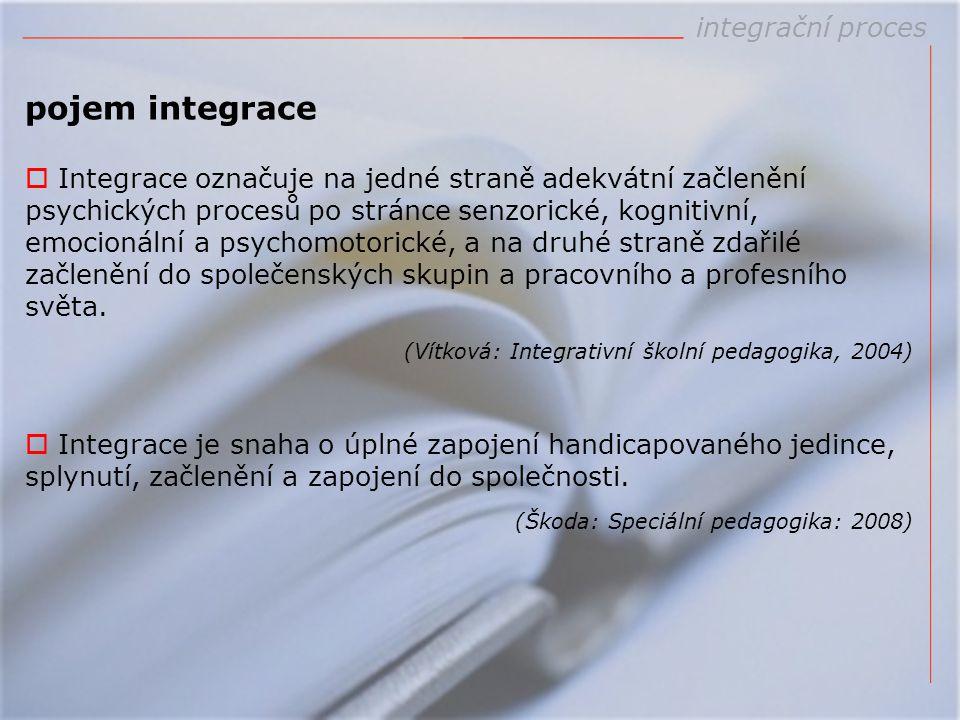 pojem integrace integrační proces