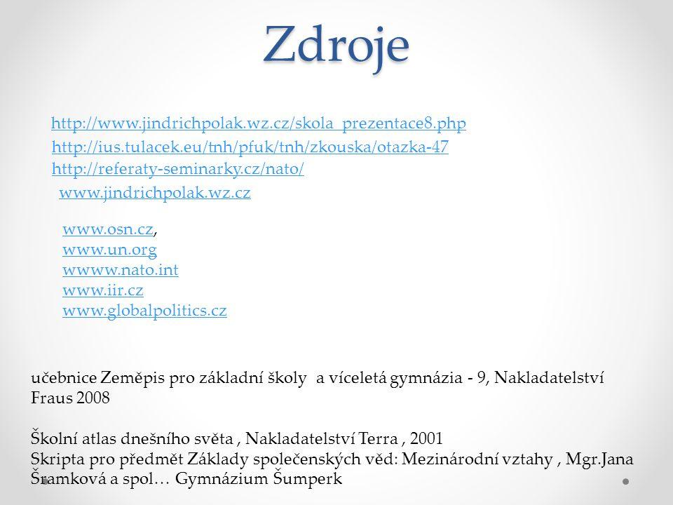 Zdroje http://www.jindrichpolak.wz.cz/skola_prezentace8.php