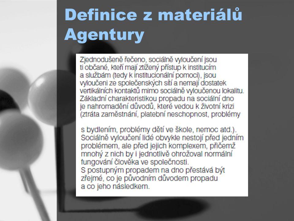 Definice z materiálů Agentury