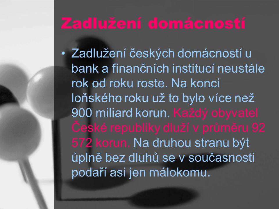 Zadlužení domácností