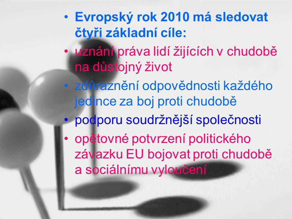 Evropský rok 2010 má sledovat čtyři základní cíle: