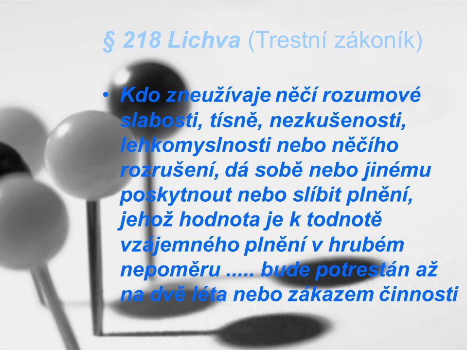 § 218 Lichva (Trestní zákoník)