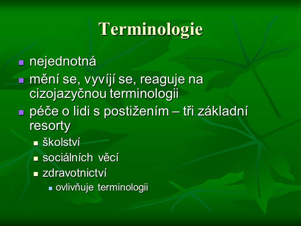 Terminologie nejednotná