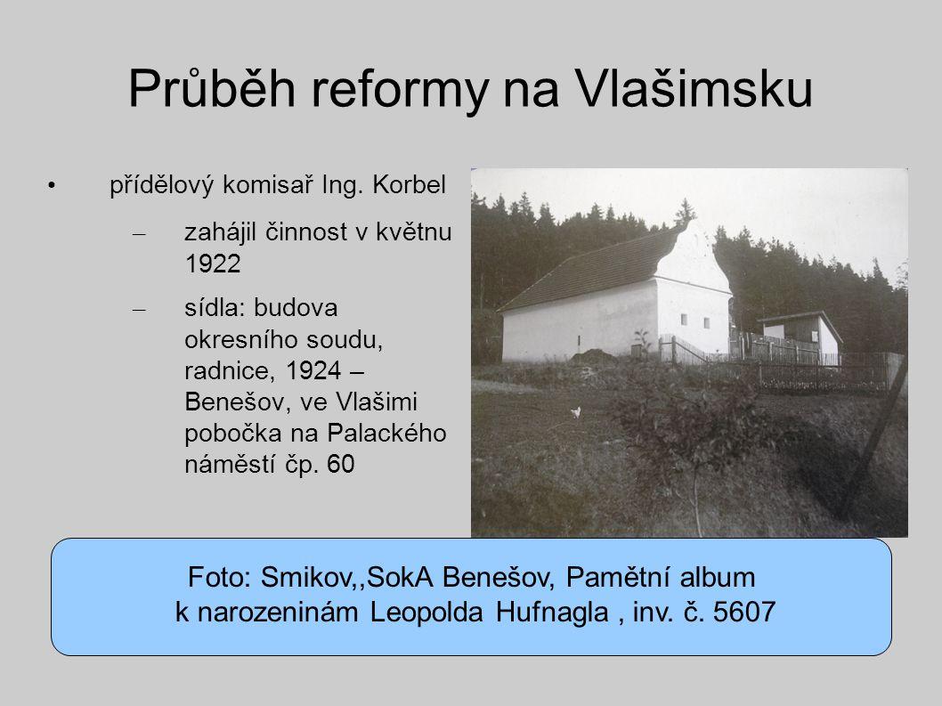 Průběh reformy na Vlašimsku