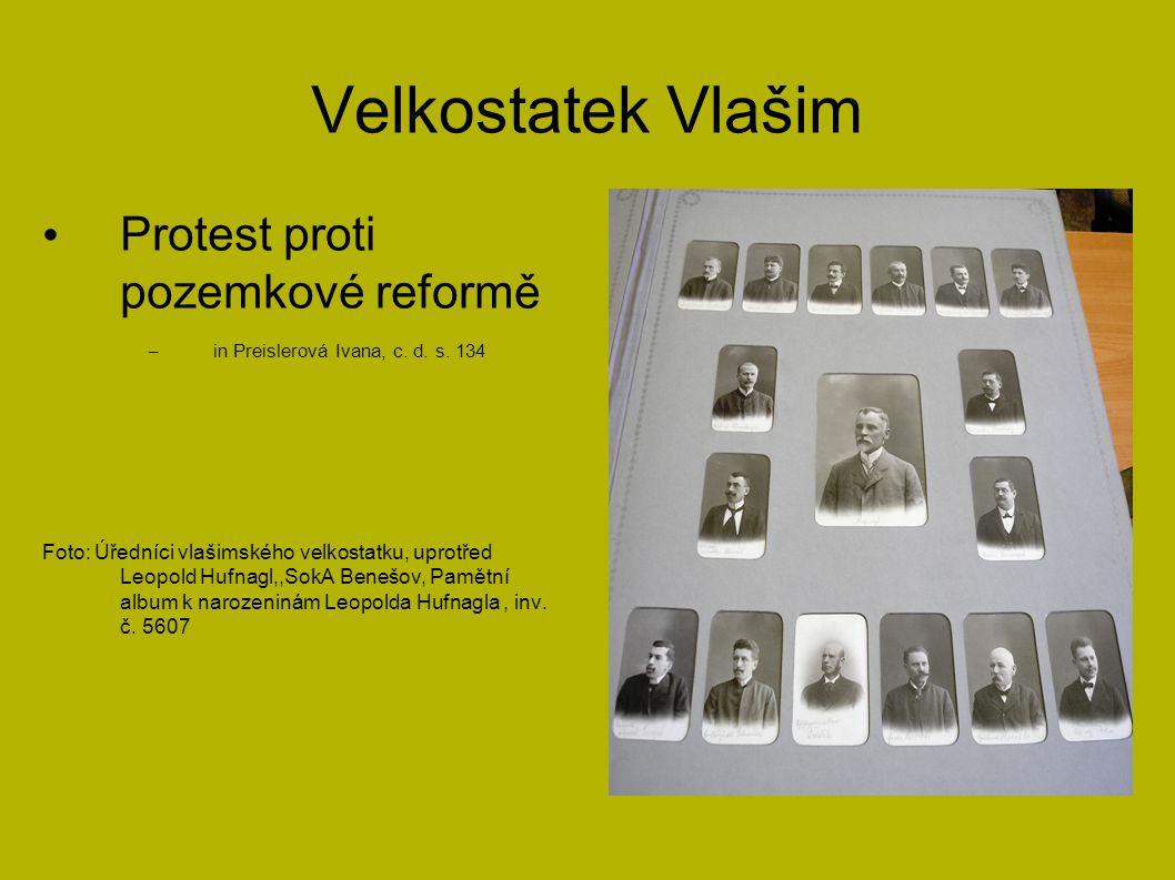 Velkostatek Vlašim Protest proti pozemkové reformě