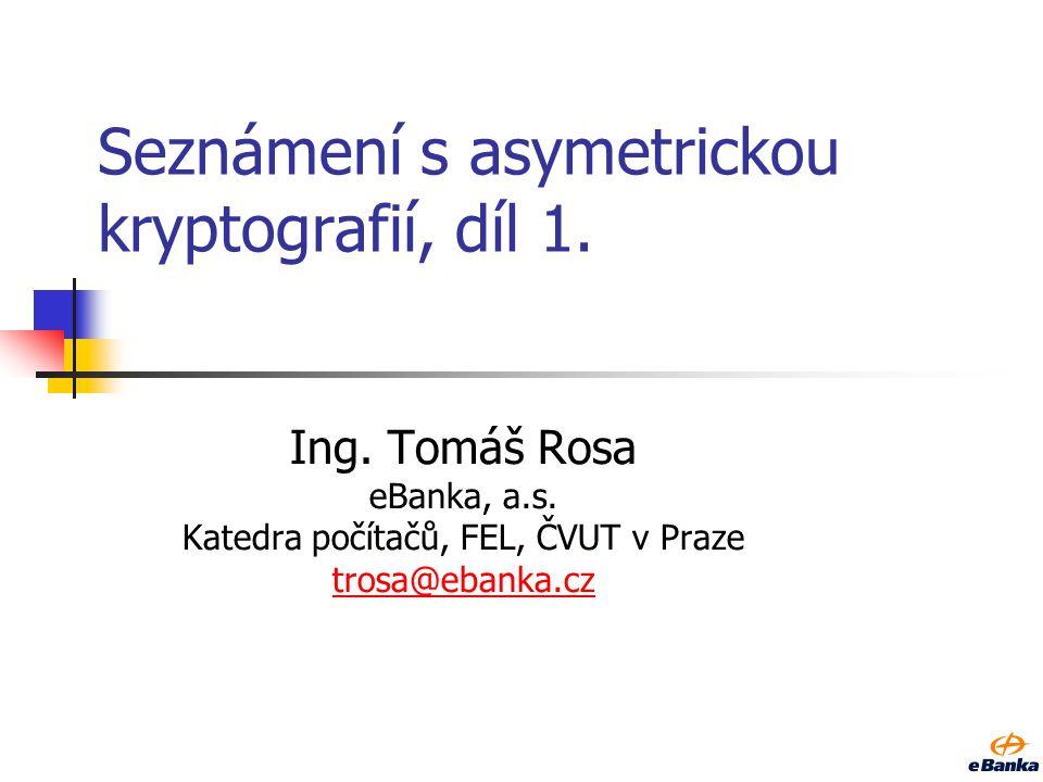 Seznámení s asymetrickou kryptografií, díl 1.