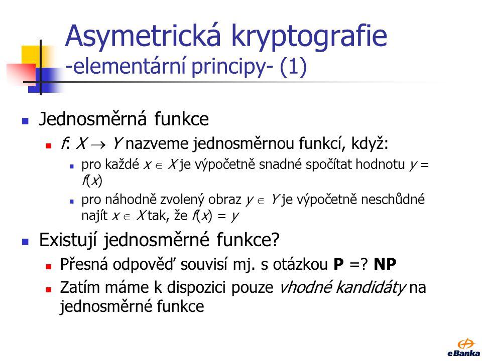 Asymetrická kryptografie -elementární principy- (1)