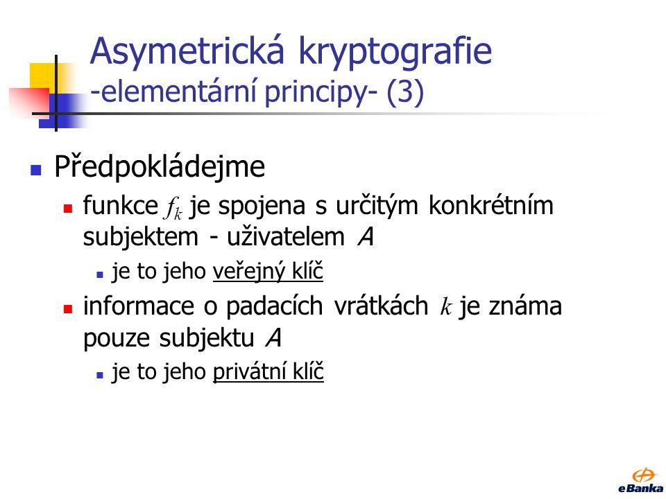 Asymetrická kryptografie -elementární principy- (3)