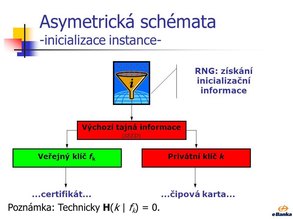 Asymetrická schémata -inicializace instance-