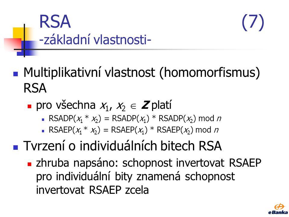 RSA (7) -základní vlastnosti-