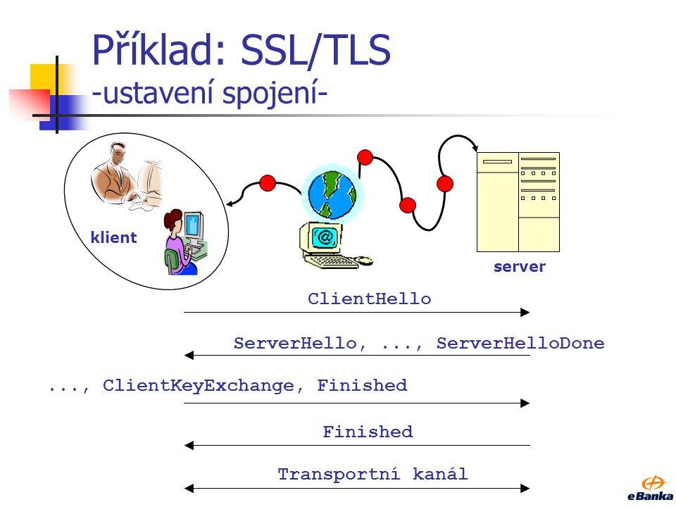 Příklad: SSL/TLS -ustavení spojení-