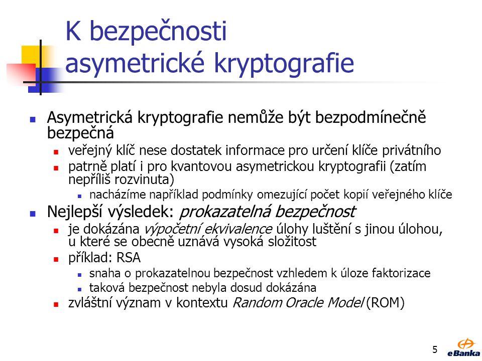 K bezpečnosti asymetrické kryptografie